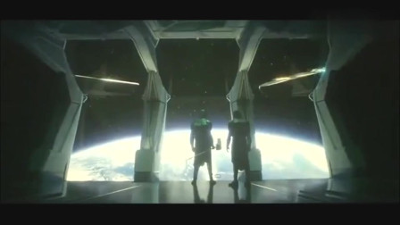 惊奇队长VS灭霸手下罗南,吓的罗南空间跳跃赶紧跑,差点尿裤子!