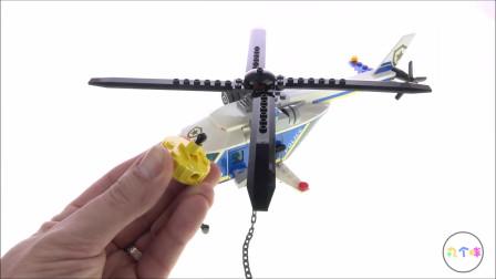 LEGO乐高积木城市60243警察直升机追逐