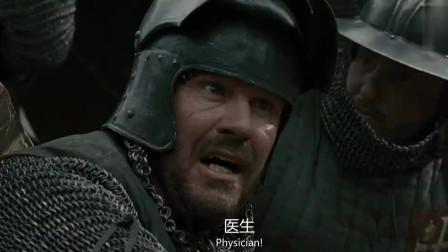 战场上,国王被一箭射中脖子,国王却还要喝酒
