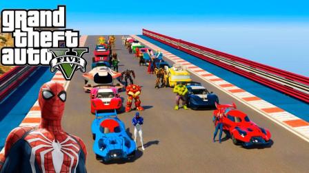 蜘蛛侠和许多超级英雄的汽车比赛,谁会赢呢?