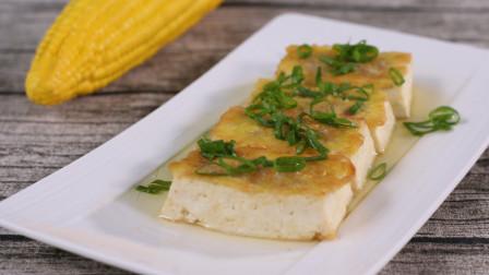 厨师长教你豆腐的花式做法,加上蛋清肉末,4块明显不够吃
