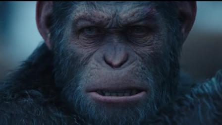 凯撒实力演绎猿族首领气质,即使被架着,也一样不怒自威!