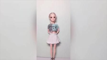 迷你娃衣教程,教你用简单的方法给芭比娃娃做一件绑带T恤