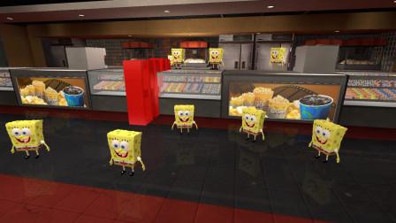 GMOD游戏海绵宝宝为什么会在这里上班呢?