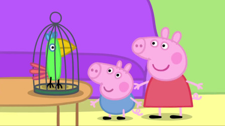 小猪佩奇:猪爷爷和猪奶奶要出门旅行,那鹦鹉波莉怎么办?