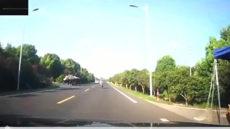 电动车女司机逆行被撞飞,这是她最后一次骑车