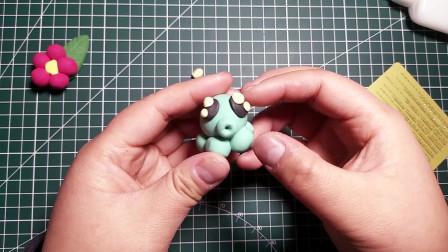 可爱粘土章鱼制作方法 粘土教程