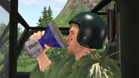 绝地求生搞笑动画:吉利服大神喝下神秘饮料,一巴掌拍飞吉普车那都不是事儿,只是没看清使用说明