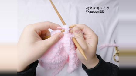 第76集)安琪拉手作 小熊绒线帽子编织视频教程毛线编织