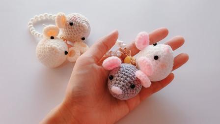 钩针编织农历庚子鼠年小老鼠玩偶的钩织方法视频全集