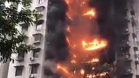 2020年1月1日17时40分许,重庆加州城市花园小区一楼房发生火灾