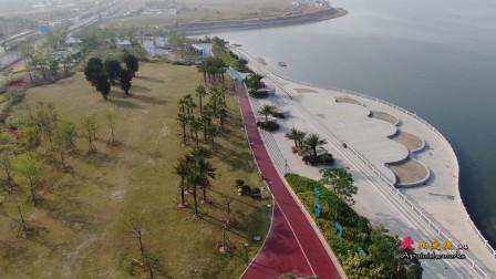 鸟瞰厦门首个建设的带状公园,也是网红打卡圣地,周边美景怡人