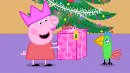 小猪佩奇送给鹦鹉波利的圣诞礼物