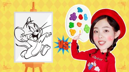 新年绘画大比拼之鼠年画老鼠!小颖和莹莹谁能赢得胜利?