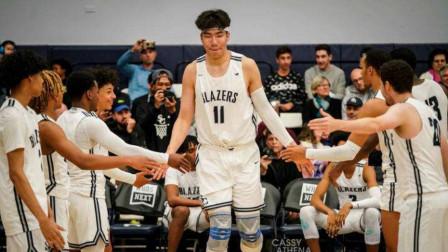 中国男篮迎喜讯!16岁内线天才闪耀,和詹姆斯儿子是队友