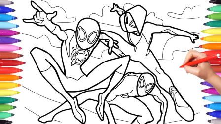 如何画蜘蛛侠和蜘蛛女人,你学会了吗?