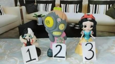 三位公主都想做小僵尸的妈妈,小僵尸让他们做蛋糕公平竞争,谁最适合做他的妈妈?