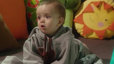 几个月大的婴儿,竟用意念说话,看样子是个外星人