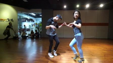 好玩欢快的salsa双人社交舞,爱学习的人那么多,学习氛围高涨