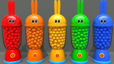 好神奇!五颜六色的兔子杯里都变出了哪些动物?趣味玩具故事