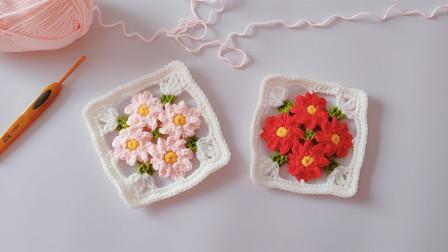 钩针编织一月梅花主题图案傲雪迎霜,独天下而春编织法视频
