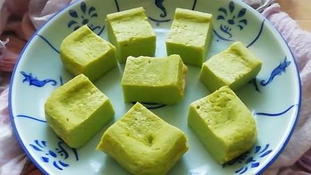 1根山药, 2朵西兰花,不用面粉的蒸蛋糕,孩子爱吃,提高免疫力