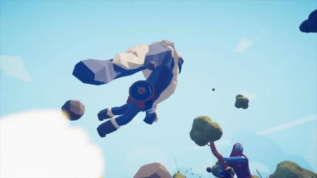 全面战争模拟器: 一拳超人对上森林巨人联盟, 兽之巨人被锤飞