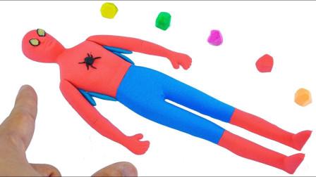 教你如何用橡皮泥做的蜘蛛侠,你学会了吗?