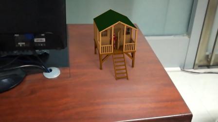 C4D摄像机反求案例:小木屋与实景合成动画