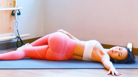 日常腿部拉伸的正确姿势,五分钟五个动作,塑臀瘦腿练出好线条