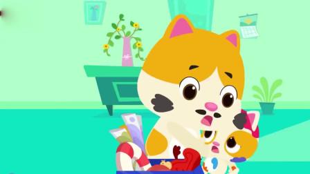 蜡笔精灵幼儿儿歌,幼儿故事,儿童歌谣,小猫和小兔子的故事