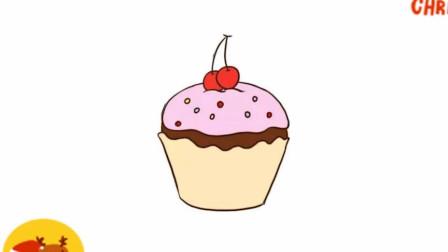 不会画画?教你这招蛋糕简笔画为可爱加分,快来看看吧