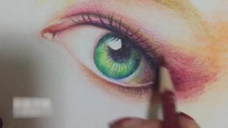 彩铅教你画动漫人物的眉毛,真的很简单