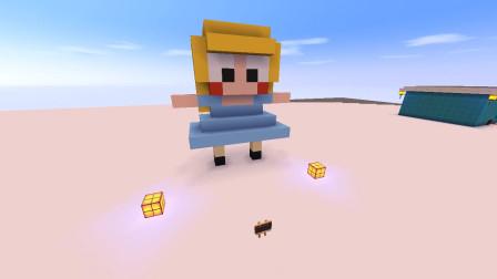 迷你世界:建造一个可爱小女孩,大家说美不美