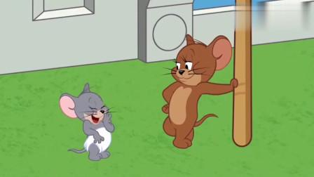 猫和老鼠:杰瑞和泰菲自制打雷下雨,汤姆在柜子里吓得直发抖!