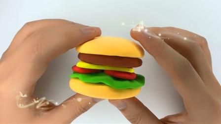 欢乐多彩泥 美味的麦当劳汉堡包