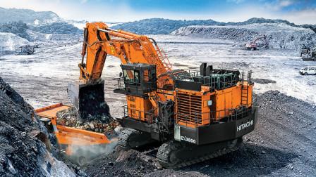 """自重3000吨""""巨型挖掘机""""落户中国,配备8个心脏!一天挖空山丘"""