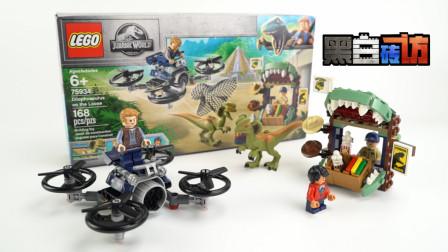 【黑白评测】★乐高LEGO★侏罗纪世界75934追捕逃逸双脊龙