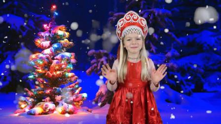 太不可思议了!萌宝小萝莉是怎么跑到雪花球的世界?趣味玩具故事