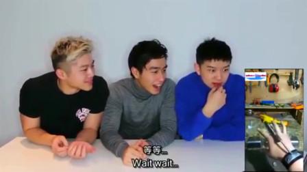 老外看中国:美国华裔第一次看中国的网红的视频,直接趴在桌子上笑!