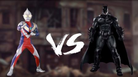 奥特曼格斗真人版:迪迦召唤李白对抗蝙蝠侠,却反被李白给灌醉?