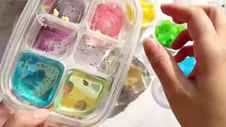 高透樱花玻璃起泡胶混动物海绵泥,捏起来又炸又响超好玩