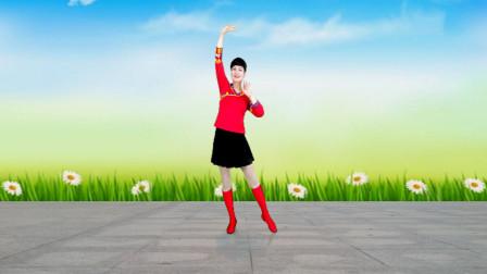 水兵风格广场舞《心上的罗加》