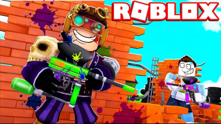Roblox虚拟世界小飞象解说 第二季 Roblox彩弹射击 穿越火线冲锋陷阵!
