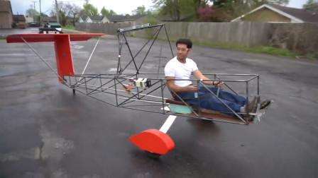 """印度用""""拖拉机""""改装飞机,机身用钢管焊接,起飞后意外发生"""