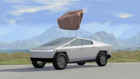 BeamNG:对特斯拉赛博皮卡车进行了彻底的测试,拟真车祸模拟