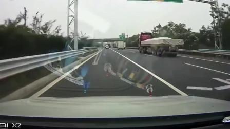 监控:高速上如此开车,你胆子也太大了吧
