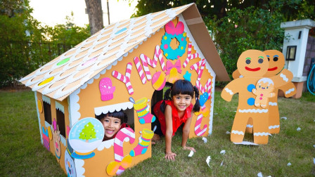 真棒!双胞胎小萝莉在哪里找到玩具屋的装饰品呢?趣味玩具故事