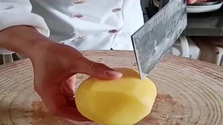 土豆丝的切法,这么多年的厨师,却不知道这一招!