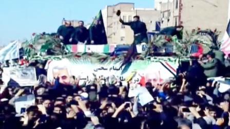 """伊朗少将遗体被运回国,上万民众街头悼念,议员高喊""""美国去死"""""""